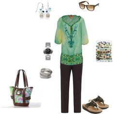 Wearing 5/1/2012 featuring #Clarks Latin Palm, created by katieshilk on Polyvore