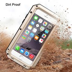 Metal Extreme Shockproof Military Heavy Duty Tempered Glass Cover Case Skin for…