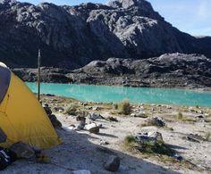 Carstensz Pyramid Hiking and camping