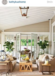 The Ultimate Southern Farmhouse: Fontanel Idea House: The Back Porch Southern Farmhouse, Country Farmhouse Decor, Southern Living, Country Kitchens, Farmhouse Style, Outdoor Rooms, Indoor Outdoor, Outdoor Living, Outdoor Furniture Sets