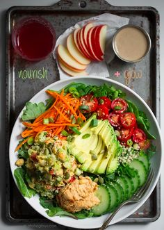 The Nourish and Glow Miracle Bowl | Perfect with a spoonful of Blue Moose's handmade all natural hummus!