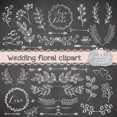 Rustic wedding clipart Lace clipart Hand Drawn di 1burlapandlace, $4,99