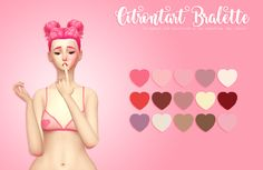 i love @citrontart​'s bralettes so i edited the alpha and voila! heart bralettes in my valentines colours!! download ☁ mesh [required]