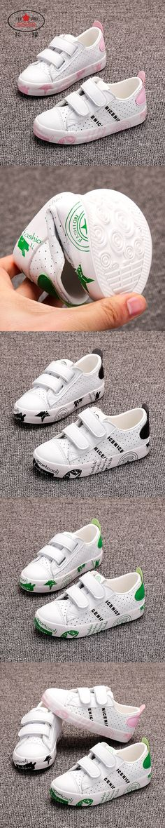 2017 Spring FEIYAO Kids Girls and Boys Casual Shoes Children 3 Colors Leather Shoes Sneakers Flat and Breathable Shoes
