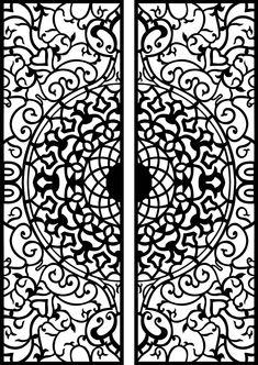 Wood Carving Design Cdr and Dxf Ai Cdr File For Cnc Laser Plasma Router Laser Cut Panels, Laser Cut Metal, Stencil Patterns, Stencil Designs, Gate Design, Door Design, Design Art, Corte Plasma, Plasma Cutter Art