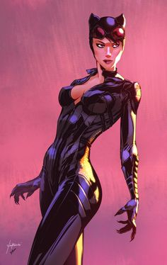 Arkham Knight Catwoman, Harrison yinfaowei on ArtStation at https://www.artstation.com/artwork/zn2GQ #comicart