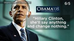 VIDEO - Obama in 2008 Agrees with Trump on Hillary Clinton  All Talk No Action