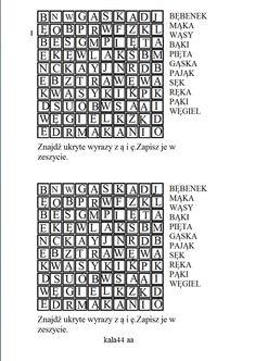 Utrwalenie pisowni wyrazów z ą i ę. Periodic Table, Coding, Classroom, Words, Speech Language Therapy, Therapy, Class Room, Periodic Table Chart, Periotic Table