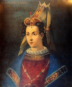Roxelana also kown by her Turkish name of Khourrem (Hürrem) (1500 - April 18, 1558) was the wife of sultan Süleyman the Magnificent of the Ottoman Empire. This painting was done by the Venetians based on information by their secret service based in Istanbul.