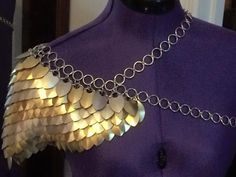 custom Scale mail shoulder armor von LongmaArmory auf Etsy