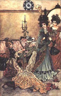 Cinderella, arthur rackham