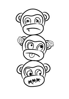 """See, Hear, Speak No Evil by NathanH0303.deviantart.com on @deviantART Thinking I should get hold of him and see if he can add """"Do no Evil""""? These are PERFECT"""