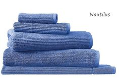 """""""Nautilus"""" - The new colour now available in Sheridans Trenton Range!  Sheridan's Living Textures towels are made from 100% Hygro Cotton a specially engineered terry weave designed to capture water faster. The result is an incredibly plush soft towel with instant absorbency. With a contemporary ribbed pattern Living Textures are available in a palette of bright statement colours or soft neutrals and make a lovely addition to any bathroom.  See them online! http://ift.tt/1IQoQJz  #bathtowels…"""