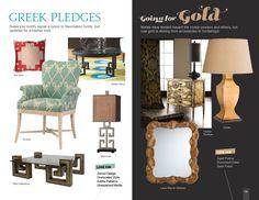 Trends: Greek Pledges & Going for Gold #hpmkt  We also love this trend! http://sunbrel.la/00216