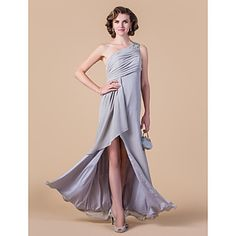 Sheath/Column One Shoulder Floor-length Chiffon Mother of the Bride Dress  – USD $ 119.99
