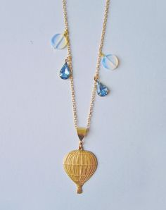 Moving On Up Hot Air Balloon Necklace — Eclectic Eccentricity Vintage Jewellery