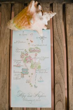 I am obsessed with custom wedding maps...especially for such a fun location!