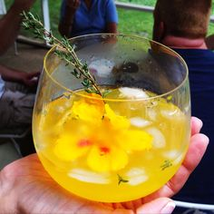 #AnAppealingPlan Tangerine Thyme #Cocktail with edible flower
