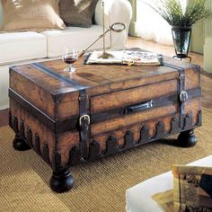 Trunk Style Sofa Table
