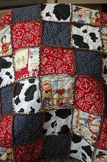 It's all in My Head!: Cowboy Rag Quilt