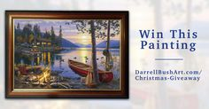 Win This Painting! http://giveaway.darrellbushart.com/giveaways/win-canoe-lake/?lucky=3977