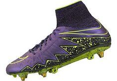 4ca93fe8e8a9 Nike Hypervenom Phantom II SG-Pro - Hyper Grape & Black Nike Cleats, Soccer
