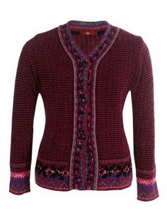 Lacey Jacquard Knit Embroidered #WomenCardigan