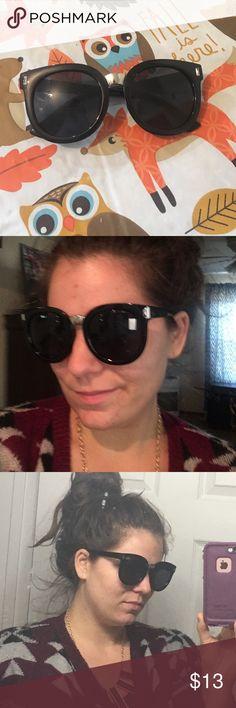 Big retro sunglasses Cute black sunnies Accessories Glasses