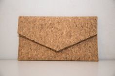 *** A bounch of cork Que Sera clutch ***  This unique handmade clutch is lovingly made start to finish in my studio in Greece from genuine cork which