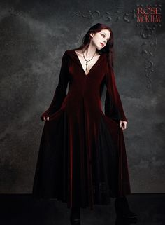 Romantic Gothic Dress: Deirdre Hooded Dress by Rose Mortem