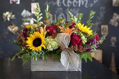 Fall flower arrangement- thanksgiving centerpiece- thanksgiving gift- unique flower arrangement- gifts for her- gifts for mom- Mother's Day- floral design- flowers- centerpiece ideas ************************************ Petal Patch Florist  3808 Texas Ave S, Bryan, TX 77802   979-696-6713