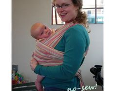 How to make a baby wrap.. and use it.  Two geeky girls' guide to the first years of motherhood.