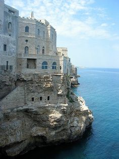 Polignano a Mare, Puglia, Italy - we spent a wonderful afternoon here.  It is amazingly beautiful.
