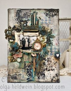 I prepared today 3 projects to share with you. As you can see its my try in Graphic 45 2016 Design Team Aud. Altered Canvas, Altered Art, Altered Tins, Mixed Media Scrapbooking, Scrapbooking Layouts, Mixed Media Collage, Mixed Media Canvas, Mixed Media Boxes, Graphic 45