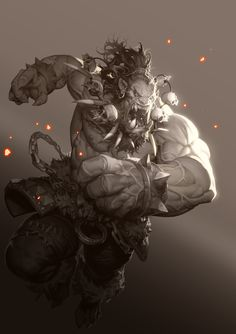 Orc, Dean Holdeen on ArtStation at https://www.artstation.com/artwork/RJ6aO