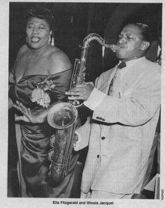 Illinois Jacquet and Ella Fitzgerald