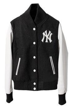 #Romwe Leather Spliced Black Coat