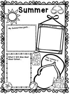 Free Summer Writing Activity Worksheet