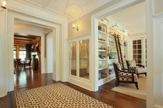 high ornate ceilings, deep architraves & wide entrances