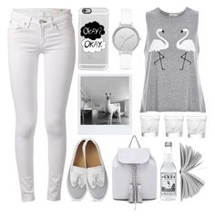 """""""Greys Okay"""" by emcf3548 ❤ liked on Polyvore featuring rag & bone, Rebecca Minkoff, River Island, Lalique, Skagen and Casetify"""