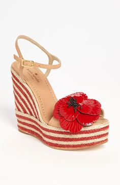 Will go so well with all things Poppy Red!  kate spade new york 'lainey' wedge sandal available at #Nordstrom