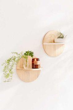Calista Circle Wooden Shelf