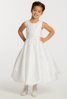 Taffeta Bubble Flower Girl Dress from Camille La Vie and Group USA