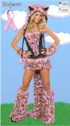 Breast Cancer Awareness-Themed, Pink, Sexy, Leopard-ish Costume Blows Our Mind (click thru for why)