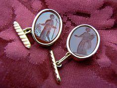 Carnelian Intaglio Cuff links - Dogale jewellery Venice Italia