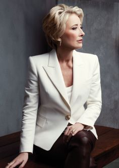 Emma Thompson. This woman will never cease to amaze me with her extraordinary talent both for acting and writing. Few can compare. And on a vainer note, I hope I can look half as good as her at that age.