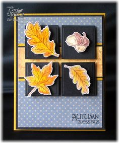 Created using the weekly SCS sketch and to celebrate World Card Making Day.  Products include Our Daily Bread Designs Autumn Blessings stamp set and coordinating Fall Leaves and Acorn Die