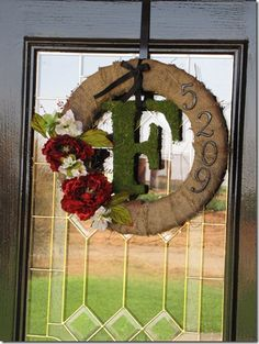 DIY door wreath