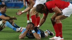 Great sportsmanship as GB players console players from Argentina after epic encounter at the Olympics.