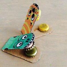 tuto pour de bricolage enfants pour réaliser des castagnettes